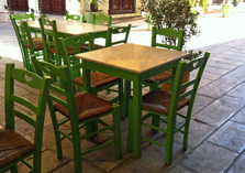 Green Tables in Greece