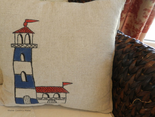 Maine Country Home Pillow
