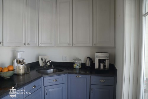 chalk paint old violet on cabinets