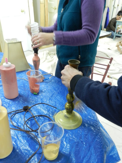 painting brass with chalk paint
