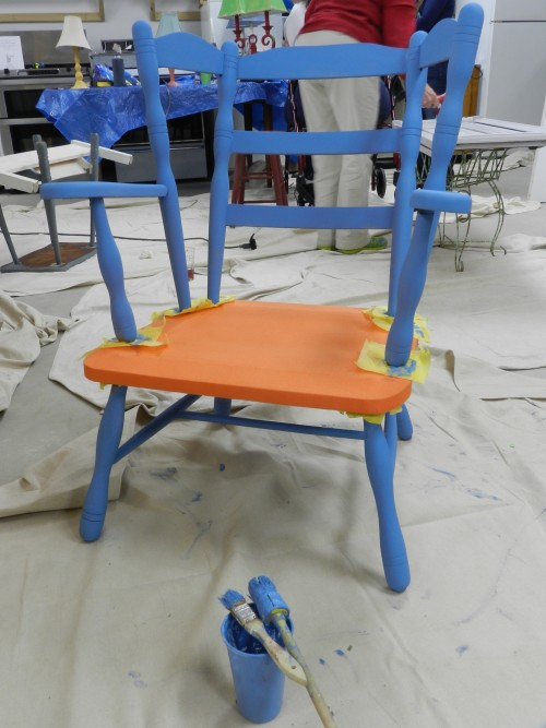 outdoor furniture with chalk paint
