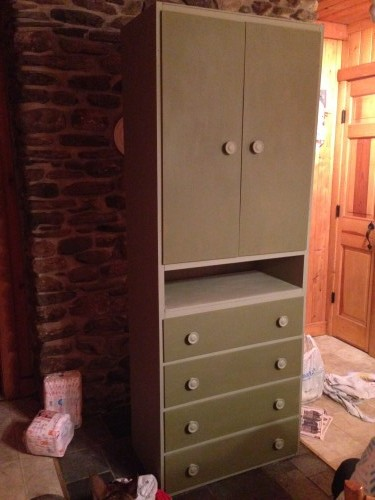 olive and chateau grey chalk paint