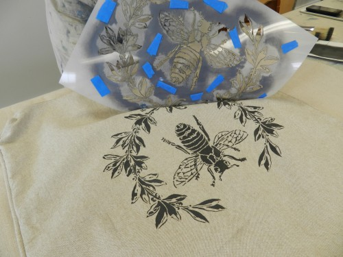 stenciling with chalk paint