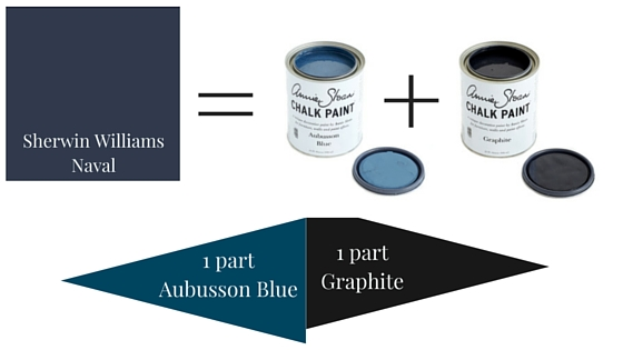 navy blue chalk paint