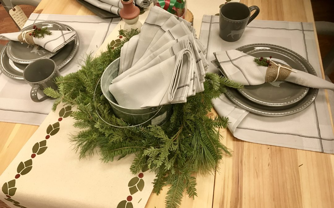 Simple holiday table runner